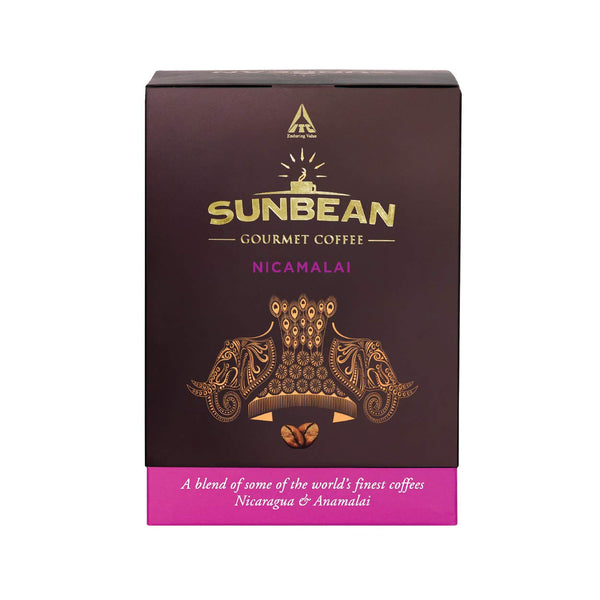 Sunbean Gourmet Coffee Nicamalai – Roasted & Ground Coffee Powder – 100g