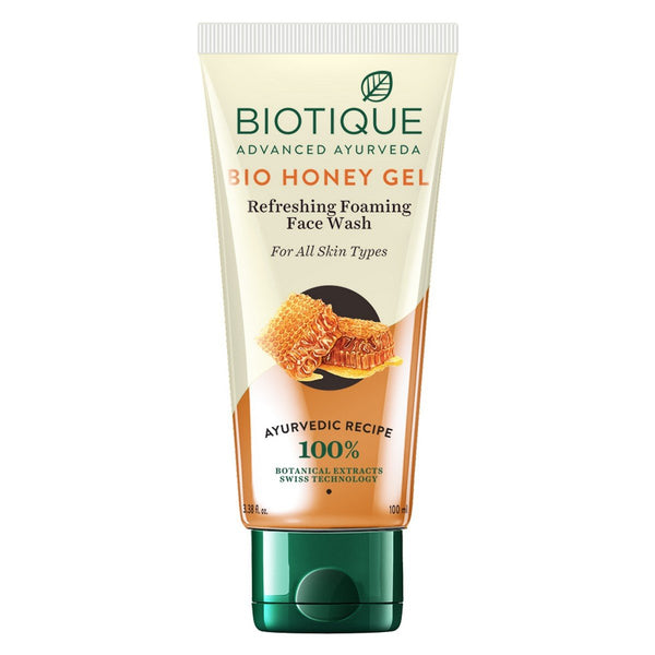 Biotique Bio Honey Gel Refreshing Foaming Face Wash for All Skin Types, 100ml
