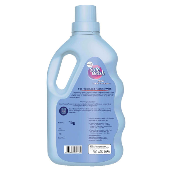 Safewash Matic Front Load Liquid Detergent 1Kg