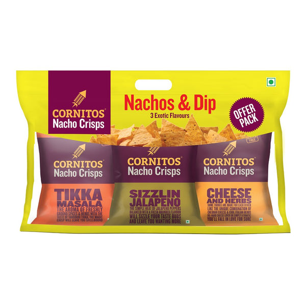 Cornitos Nachos with Salsa Combo, 230g