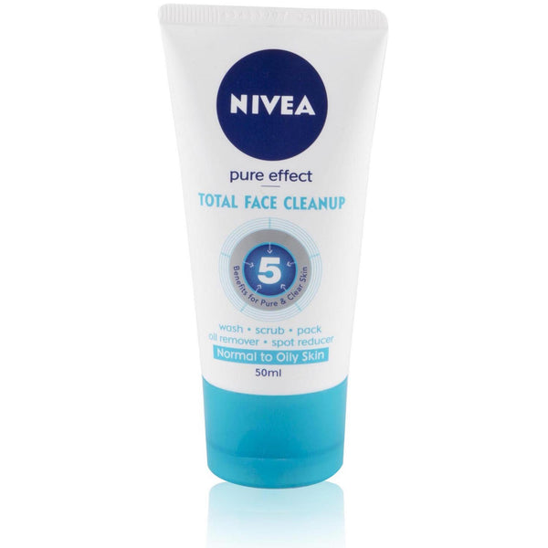Nivea Total Face Cleanup - Pure Effect, 50ml Tube