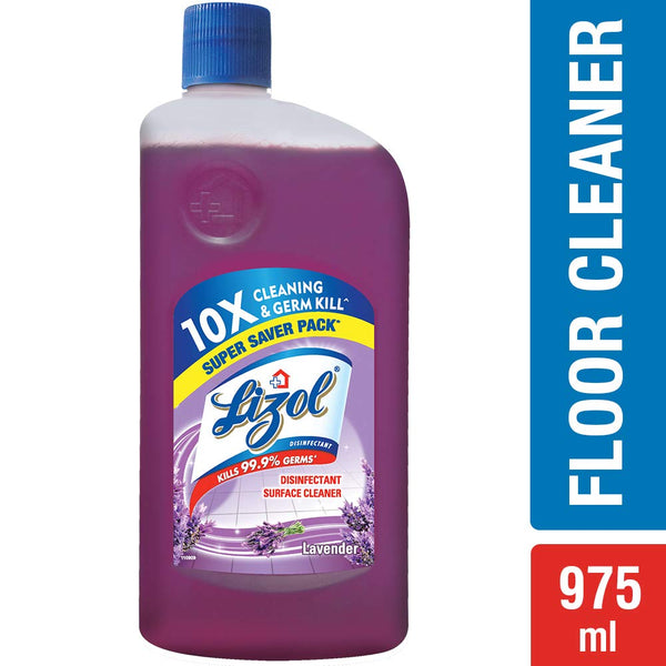 Lizol Disinfectant Floor Cleaner Lavender, 975 ml