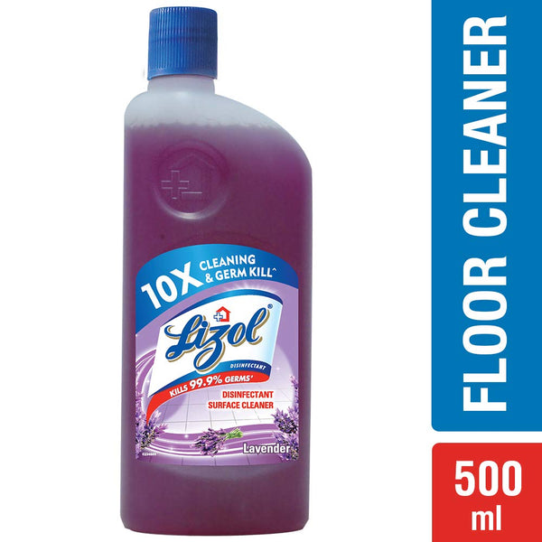 Lizol Disinfectant Floor Cleaner Lavender, 500ml