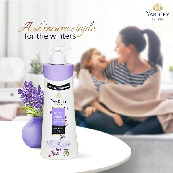 Yardley London English Lavender Moisturising Hand & Body Lotion, 350ml