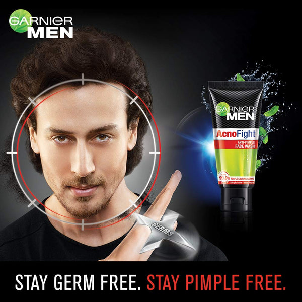 Garnier Men Acno Fight Anti-Pimple Facewash, 50gm