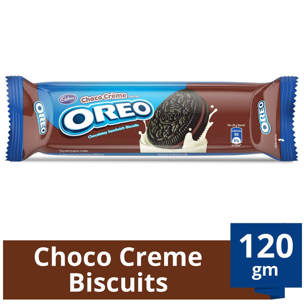 Cadbury Oreo Chocalate Sandwich Biscuits, 120g