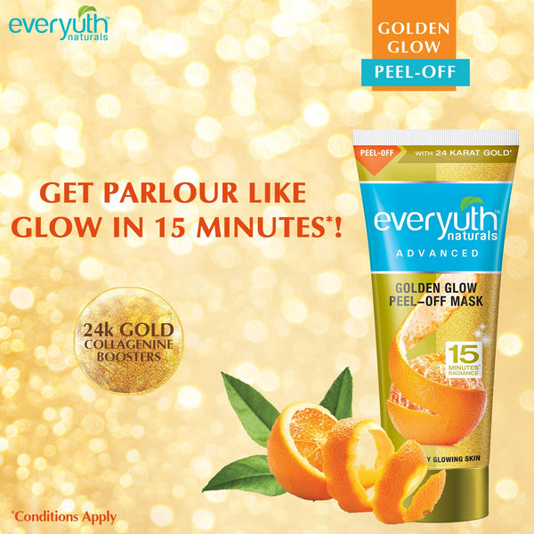 Everyuth Naturals Advanced Golden Glow Peel-off Mask, 90gm, Tube