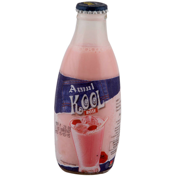 Amul Kool Flavoured Milk - Rose, 200ml Bottle