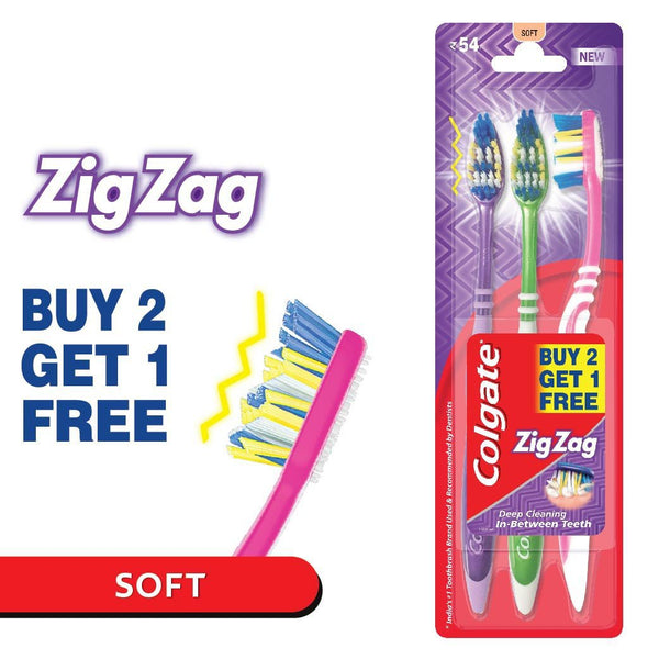 Colgate ZigZag Toothbrush - Soft (Buy 2 Get 1)