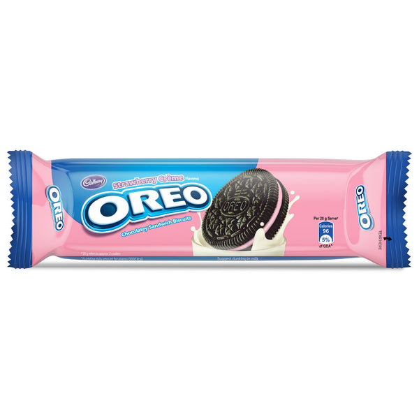 Cadbury Oreo  Strawberry Crème Biscuit, 120g