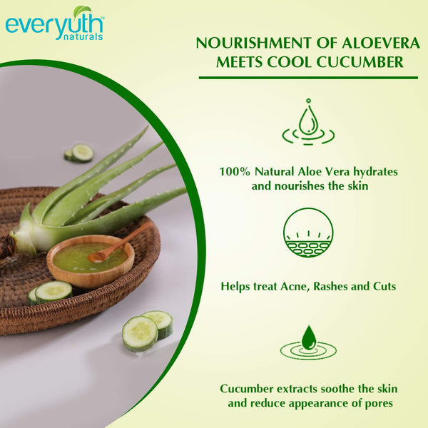 Everyuth Naturals Nourishing Aloe Vera & Cucumber Gel, 100 g