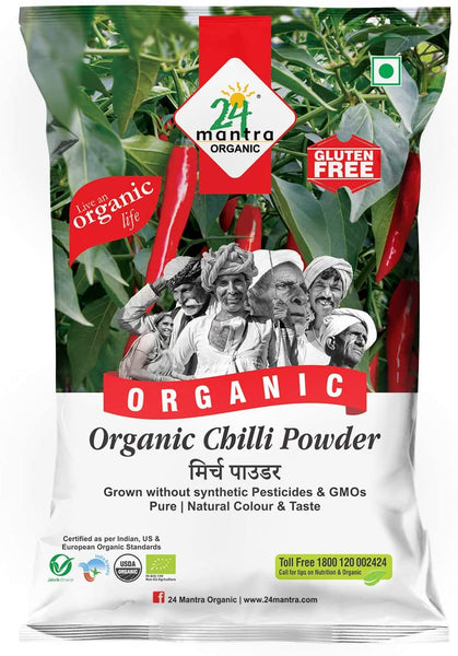 24 Mantra Organic Chilli Powder, 100g