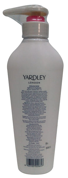 Yardley London Moisturising Body Lotion - English Rose, 350ml Bottle