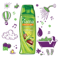 Fiama Shower Gel Lemongrass & Jojoba Body Wash with Skin Conditioners for Smooth Skin, 250 ml