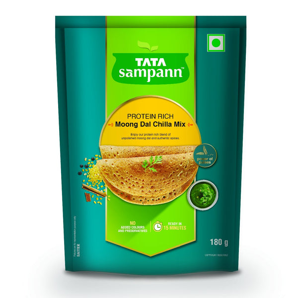 Tata Sampann Moong Dal Chilla Mix, 180g