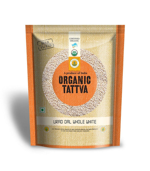 Organic Tattva Urad Dal Whole White, 500g