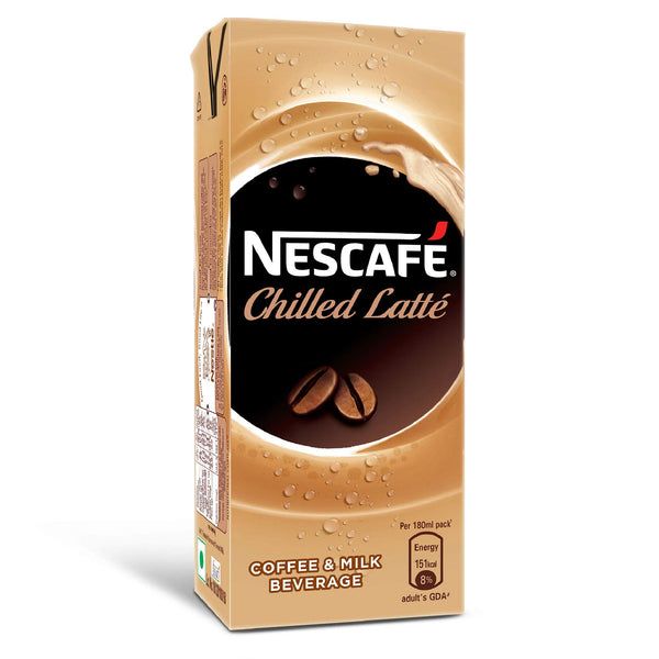 Nescafe Chilled  Latte, Ready-To-Drink Cold Coffee, 180ml Tetra Pack