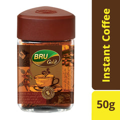 BRU Gold Instant Coffee,  50g