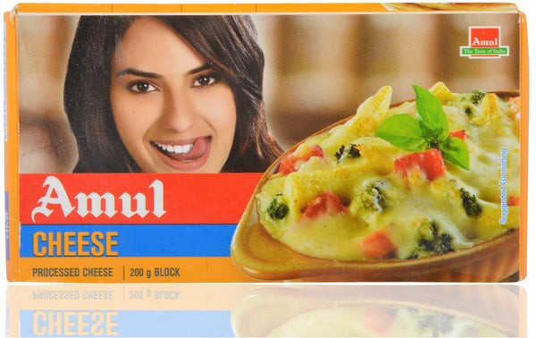 Amul Cheese - Processed, 200g Block