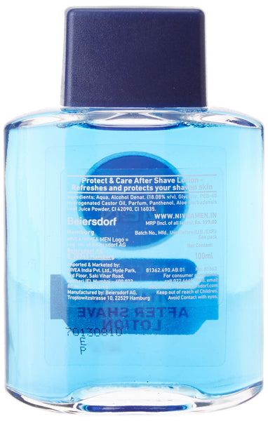 Nivea Men Protect and Care Vitalizing After Shave Lotion with Aloe Vera - 100 ml
