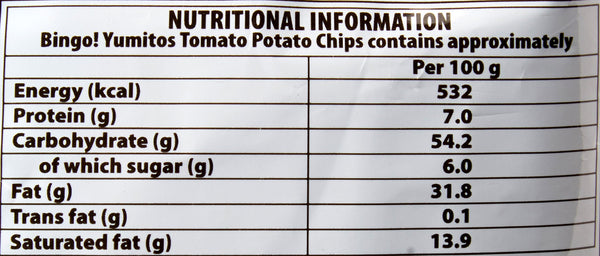 Bingo Potato chips Tomato, 52 g