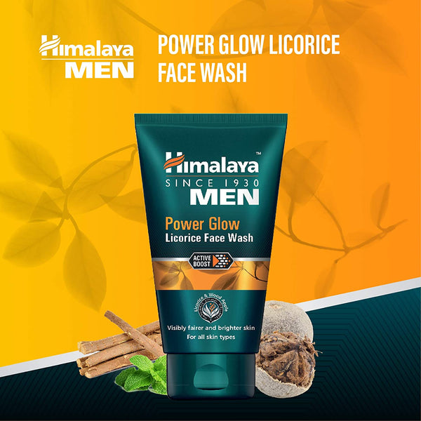 Himalaya MEN Power Glow Licorice Face Wash, 50ml