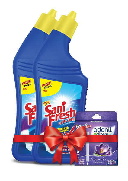 Dabur Sanifresh Shine - 500 ml (Pack of 2) With Free Odonil Air Freshner