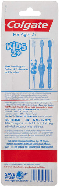 Colgate Toothbrush for Kids 2+ (Buy 2 Get 1 Free) Color May Vary