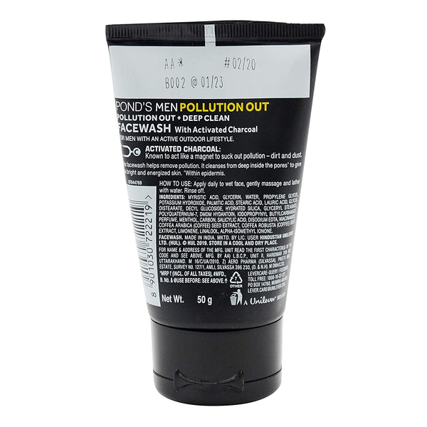 Pond's Men's Polution Out Face Wash, 50g