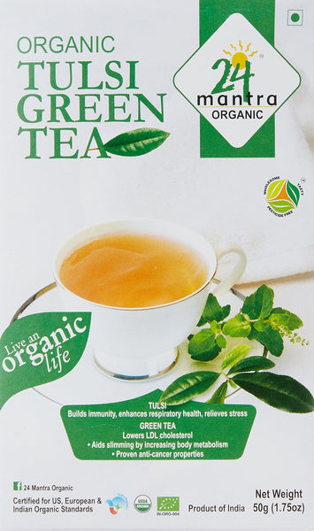 24 Mantra Organic Tulsi Green Tea, 50g