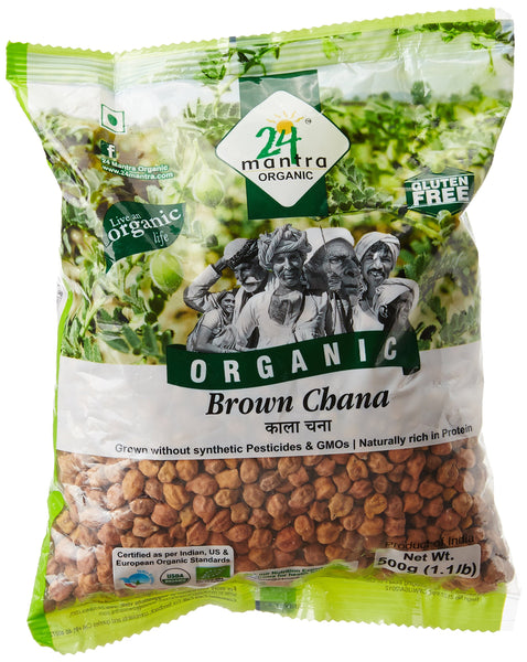 24 Mantra Organic Brown Chana, 500g