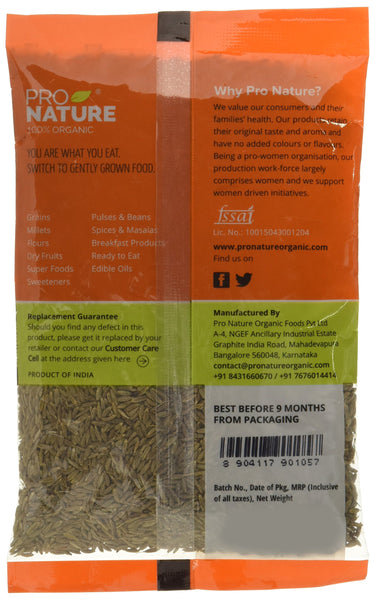 Pro Nature Organic 100% Organic Cumin (Whole) 100g