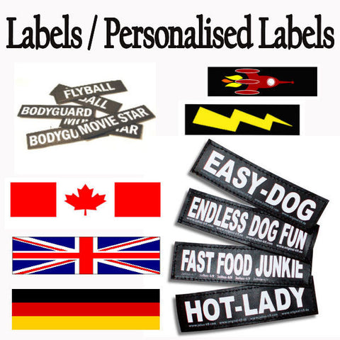 Labels / Personalised Unique Labels & Harness Patches