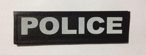 """Police"" Large Harness Labels - Set of 2 Labels / patches - JULIUSK9® CANADA"