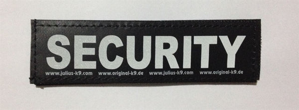 """Security"" Large Harness Labels - Set of 2 Labels / patches - JULIUSK9® CANADA"