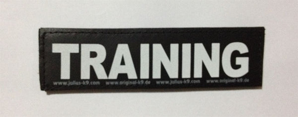 """Training"" Harness Labels - Set of 2 Labels / patches - JULIUSK9® CANADA"