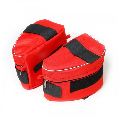 Size 1-2 Red Saddle Sidebags for IDC Powerharnesses - JULIUSK9® CANADA