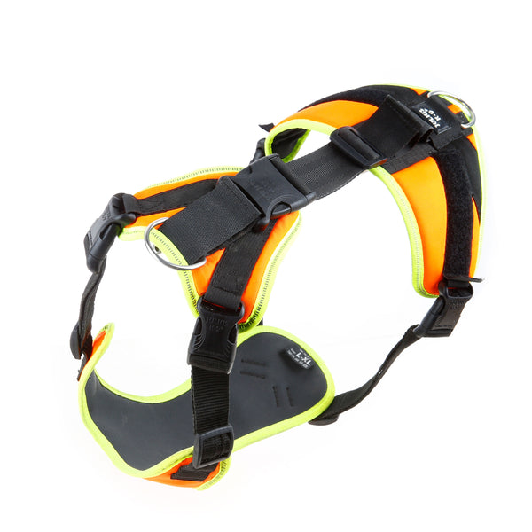 Mantrailing Dog Harness - UV Orange - Large & X Large - JULIUSK9® CANADA