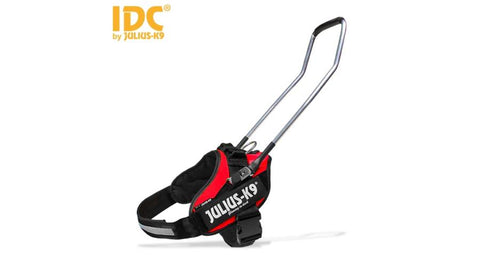 IDC® Guide dog Powerharness With Handle - Red, Size 2 - JULIUSK9® CANADA