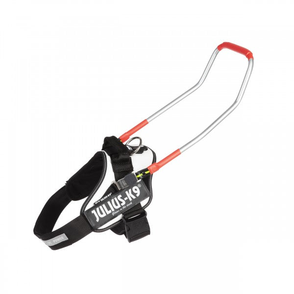 IDC® Guide dog Powerharness With Handle - White, Size 1 - JULIUSK9® CANADA