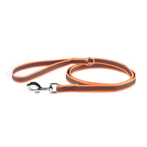 Super Grip Leash Orange / Black 1.8 Meters / 6 Ft - JULIUSK9® CANADA