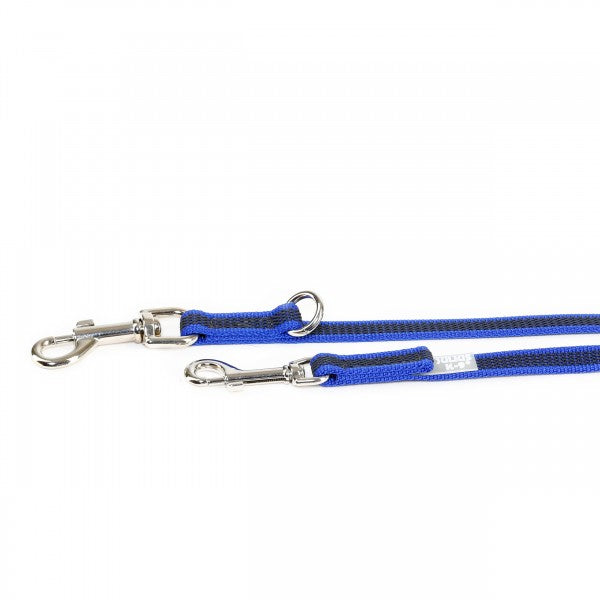 Super Grip Leash - Double Clasp - 2.2 Meters / 7.2 Ft  Blue / Grey - JULIUSK9® CANADA