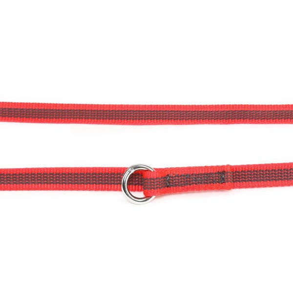 Super Grip Leash - Double Clasp - 2.2 Meters / 7.2 Ft  Red/Grey - JULIUSK9® CANADA