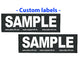 """Clear White - 1 X Pair of Custom Labels for your Dog Harness - Set of 2 Labels / patches"""