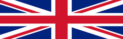 """UK Flag - United Kingdom - Union Jack"" Small Harness Labels - Set of 2 Labels / patches - JULIUSK9® CANADA"