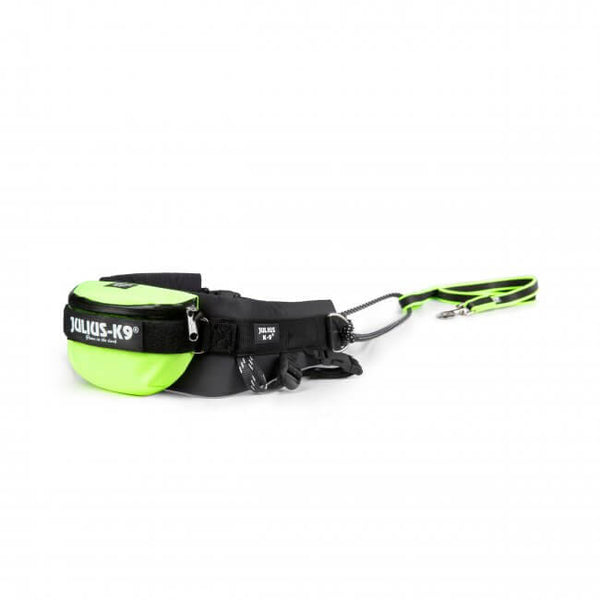 Jogging belt with flexible / elastic leash (for dogs between 33 and 55 lbs)