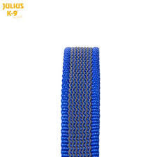 Super Grip Leash Grey / Blue 1.2 Meters / 4 Ft - JULIUSK9® CANADA