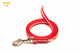 IDC Lumino Leash 1.2 Meters / 4 Ft with Handle - Glow in the Dark - Red