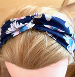 MARGOT navy blue hair band and flowers online store