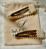 Set of two hair clips adorned with pearls FASHION boutique online